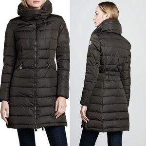 MONCLER Flamme pillow collar down coat black